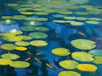 Lily Pond with Koi Fine Art Print