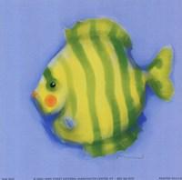 Green Striped Fish Fine Art Print