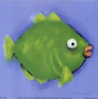 Green Pucker Fish Fine Art Print