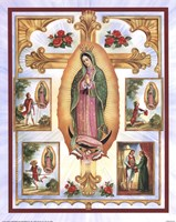 Lady of Guadalupe Montage Fine Art Print
