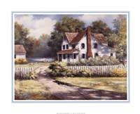 Country Home with Forsythia