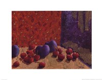 Plums and Cherries I Fine Art Print