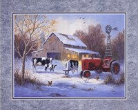 Winter Chores Fine Art Print