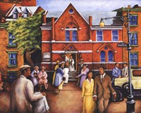 City Church Gathering Fine Art Print