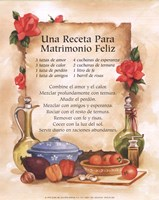 Happy Marriage Recipe (Spanish) Fine Art Print