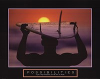 Possibilities - Surfer Framed Print