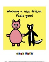 Making a New Friend Feels Good Framed Print