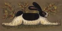 Green Folk Bunny Framed Print