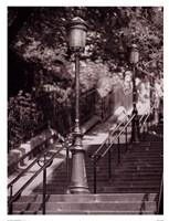 Les Escaliers De Montmartre Fine Art Print
