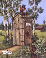 Outhouse - Rooster Fine Art Print
