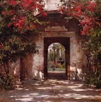 Flowered Doorway Fine Art Print