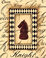 Chess Knight - Mini Framed Print