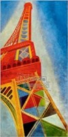 "Eiffel Tower by Mali Nave - 20"" x 40"""