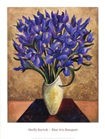 Blue Iris Bouquet Framed Print