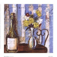 Wine and Flowers I Fine Art Print