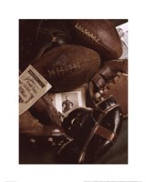 Vintage Football (Sepia) Fine Art Print