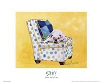 Sidney The Bull Dog (Polka Dot) Framed Print