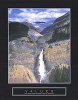 Values - Takakkaw Falls Fine Art Print