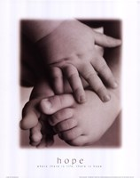 Hope - Infant Hands Feet Fine Art Print
