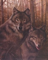 Wolves Pair Fine Art Print