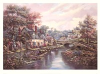 "Valley Of The River Beck by Carl Valente - 33"" x 24"""
