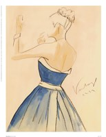 Blue Dress II Fine Art Print