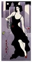 """La Dame En Noire by Janet Kruskamp - 13"""" x 25"""", FulcrumGallery.com brand"""