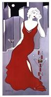 "La Dame En Rouge by Janet Kruskamp - 13"" x 25"", FulcrumGallery.com brand"