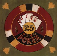 "Poker - $25 by Gregory Gorham - 12"" x 12"""
