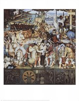 Disembarkation Of The Spanish At Veracru Fine Art Print
