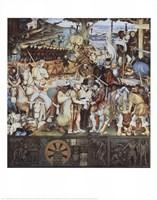 Disembarkation Of The Spanish At Veracru Framed Print