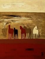 5 Ponies Fine Art Print