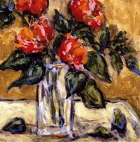 "Vase Of Red Peonies by Nicole Etienne - 12"" x 12"" - $9.99"