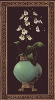 "Ginger Jar With Orchids I by Janet Kruskamp - 15"" x 27"" - $21.99"