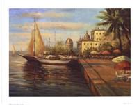 "Santo Domingo Harbor by Mali Nave - 8"" x 6"""