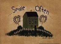 Smile Often Framed Print