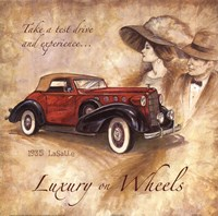 Luxury On Wheels Framed Print