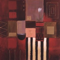 "Modern Scarlet II by Paul Curtis - 24"" x 24"""