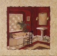"""Nouveau Rouge I by Charlene Winter Olson - 6"""" x 6"""""""