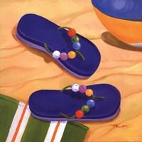 """Purple Flip Flops by Paul Brent - 12"""" x 12"""""""