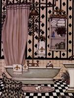 "Bath II by Janet Kruskamp - 6"" x 8"""
