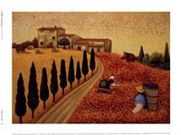 """Village Landscape by Lowell Herrero - 8"""" x 6"""""""