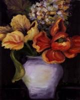 "Flowers On Black I by Shari White - 8"" x 10"""