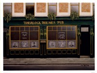 "Sherlock Holmes Pub by Andre Renoux - 17"" x 13"", FulcrumGallery.com brand"