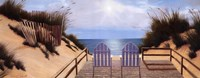 "Blue Skies Panel by Diane Romanello - 20"" x 8"""
