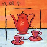 Asian Tea Set I Fine Art Print