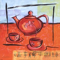 Asian Tea Set II Fine Art Print
