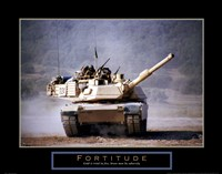 Fortitude - Tank On The Move Fine Art Print