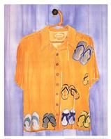 Hawaiian Shirt - Slippahs Fine Art Print