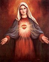 Mary's Immaculate Heart Fine Art Print